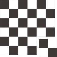 """Квадратная цементная плитка ручной работы от Luxemix с узором """"Арлекин"""" (Шашка, Checker, Harlequin)."""
