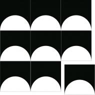Квадратная цементная плитка ручной работы от Luxemix. Коллекция Simple. Арт.: sim_04
