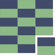 Квадратная цементная плитка ручной работы от Luxemix. Коллекция Simple. Арт.: sim_06